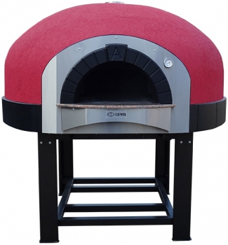 Wood pizza oven D120K, dome with silicone coating, 105 pizzas á Ø 30 cm per hour, fixed & unheated baking surface, weight 1,500 kg