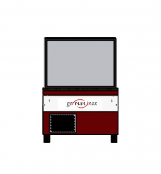 Gastroline | Bistroline refrigerated display case with forced air cooling 1260x910x902