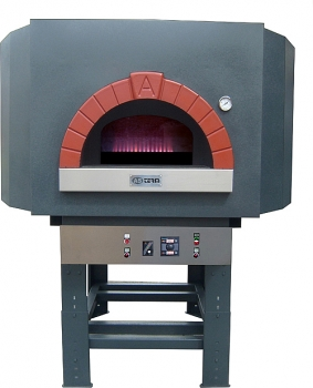 Gas pizza oven G120S-B0, metal dome, 105 pizzas á Ø 30 cm per hour, fixed & unheated baking surface, weight 1,400 kg