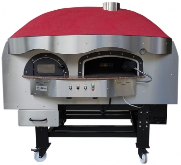 Wood pizza oven DR120K, dome with silicone coating, 135 pizzas á Ø 30 cm per hour, rotatable & unheated baking surface, weight 1,950 kg