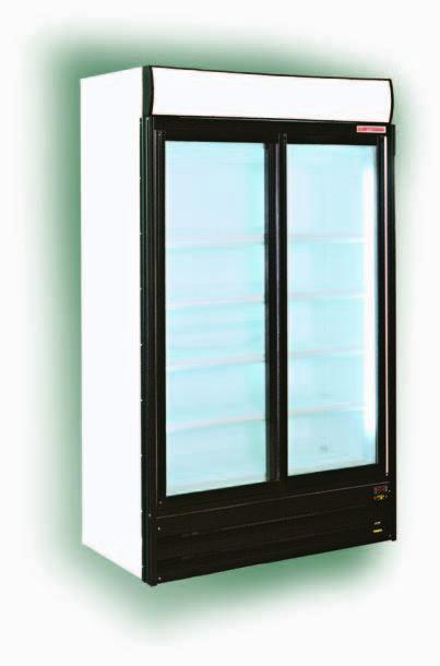 Glastür-Kühlschrank CMVD 120.0 S, zweitürig, 1207x675x2070mm ...